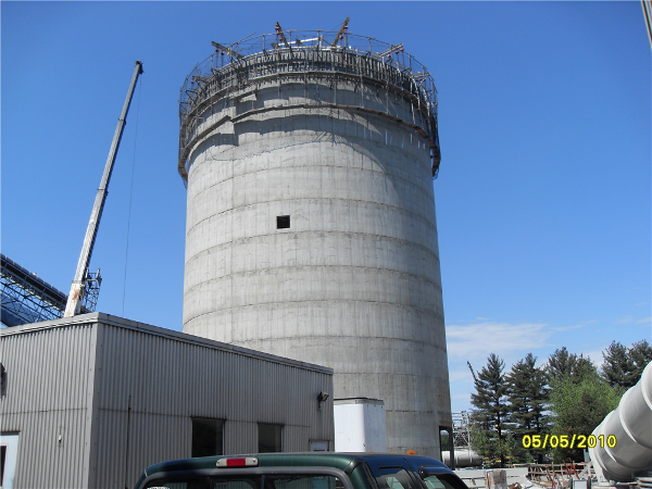 One of two silos built at PSNH Merrimack Station, New Hampshire
