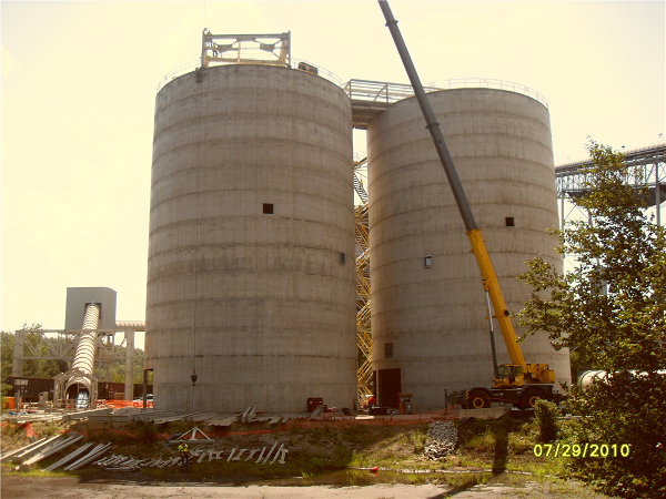 Completed Storage Silos