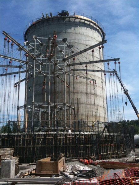 Silo construction using jumpform method