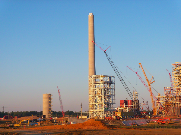 Chimney, Silo, and Stacking Tubes built at brand-new coal fired generating station.