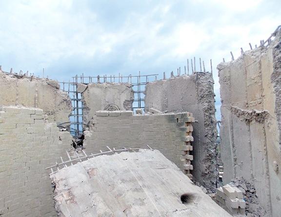 Concrete Chimney Demolition
