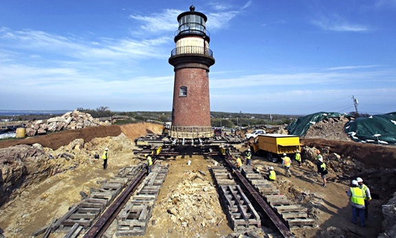 Historic Relocation of Lighthouse